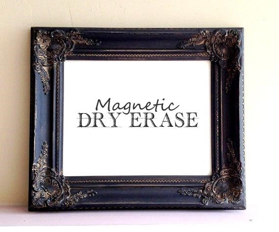dry erase board white board magnetic vintage distressed black