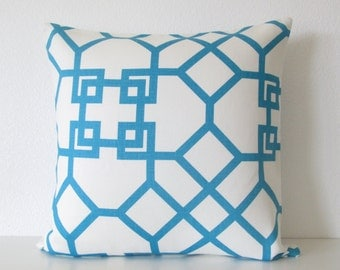 Pillow Sale - Windsor Smith Xu Garden Akuatik blue lattice designer decorative pillow cover
