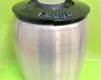 Vintage Kromex Kitchen Flour Container