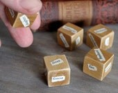 Brothers Grimm Fairy Tale Storytelling Dice - Unblockers Writer Dice Gift for Writers Word Cubes