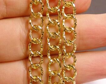 Gold chain - 1 meter - 3.3 feet - aluminum chain  - NTAC115