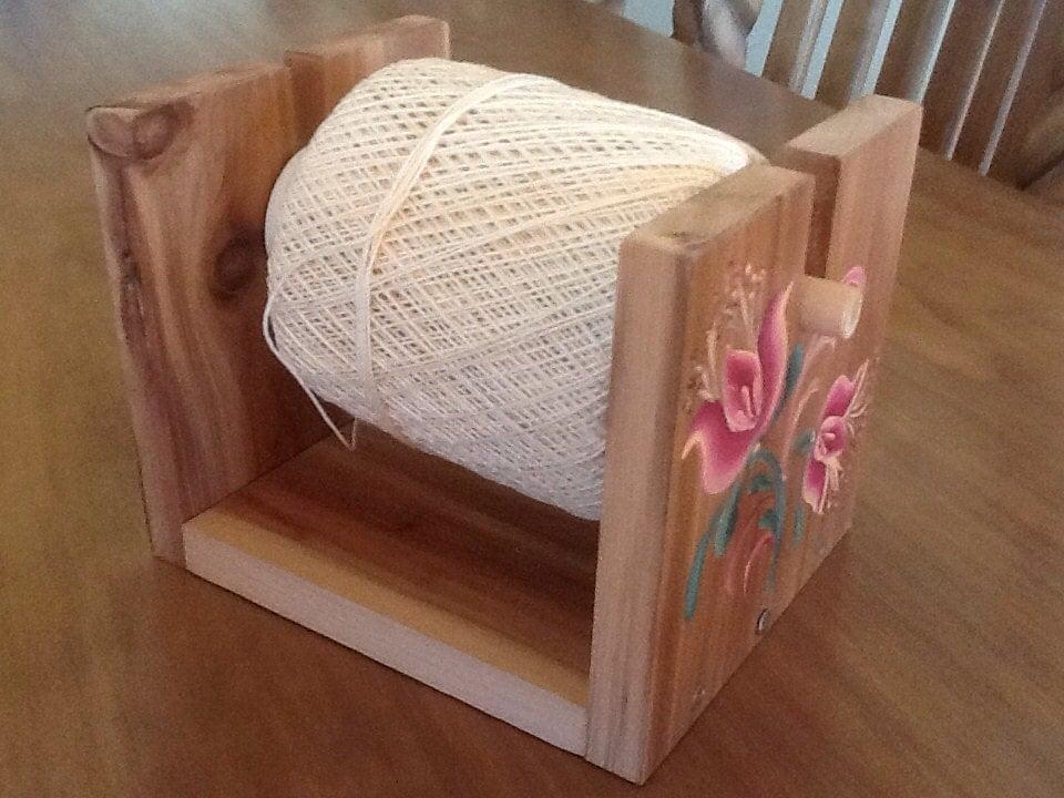 Crochet Yarn Holder : String Crochet Thread Holder by Folkartbycyndi on Etsy