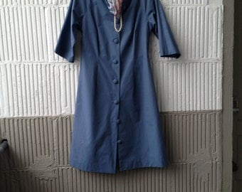 SALE 60s Spring Duster Jacket in Wedgwood Blue