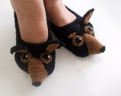 Crochet chihuahua slippers
