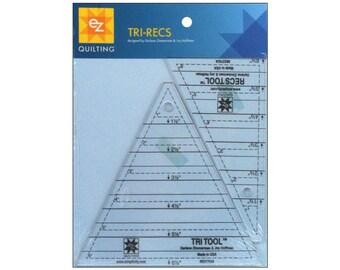 EZ Acrylic Template Tri-Recs Tri Tool Triangles Squares Rectangles Quilting Drafting Scrapbooking Crafts