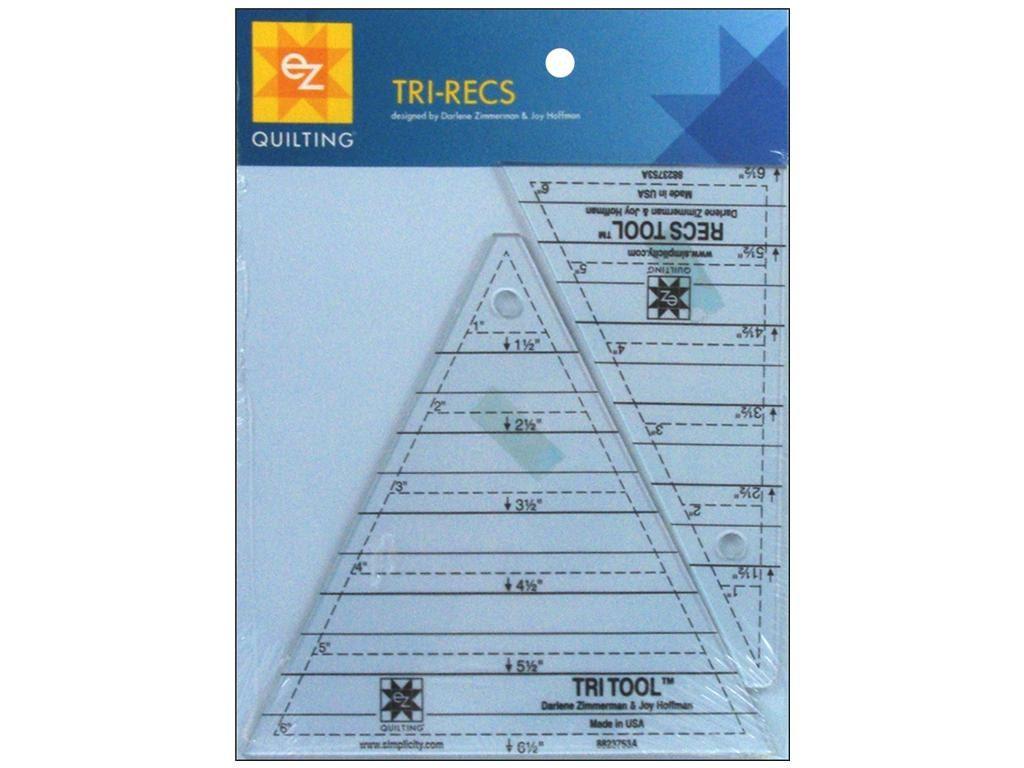Ez Acrylic Template Tri Recs Tri Tool Triangles Squares
