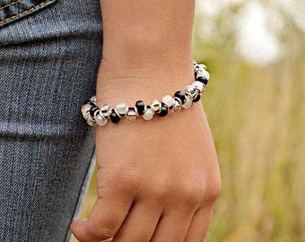 Bohemian Inspired Czech Glass Bracelet