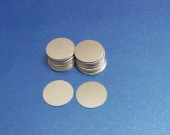 """3/4"""" Nickel Silver blanks -Metal blanks - stamping blanks -Jewelry Blanks - Hand stamping metal blanks"""
