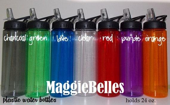 Blank 24 Oz Plastic Water Bottle Polka Dots Kids By