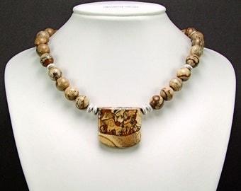 Royal Sahara Jasper Necklace - N190