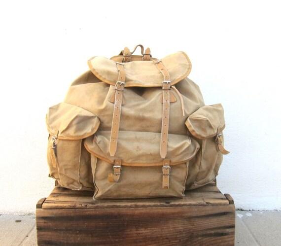 lafuma fran ais vintage militaire arm e g ant sac dos sac. Black Bedroom Furniture Sets. Home Design Ideas