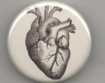 Oh You Got to Have Heart in Sepia  1.25 inch Button