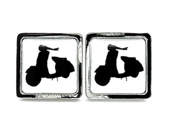 Retro Vespa Scooter - Black and White - Gifts for Him