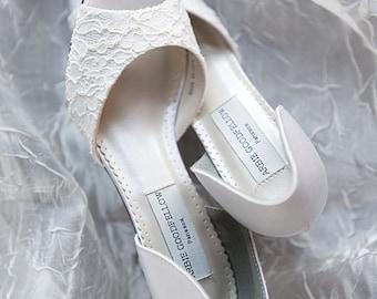 Wedding Shoe - Lace Shoe - Lace Wedding Shoe  - Bridal Shoe - Ivory Lace Shoe - Ivory Shoe - Ivory Wedding Shoes - Custom Lace Wedding Shoes