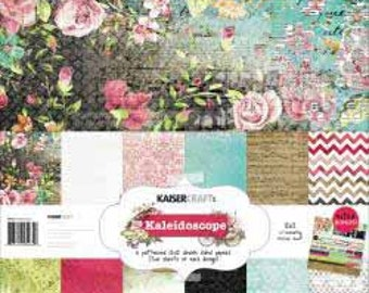 Kaisercraft Kaleidoscope 12 x 12 Double Sided Patterned Paper Pack -- Bonus Sticker Sheet