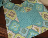 Turquoise Cross Chest Hobo Bag