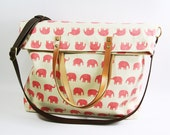 2 way Tote bag-Cross Body Bag - Fall Messenger Bag - diaper bag-handbag -letachable strap-leather handle
