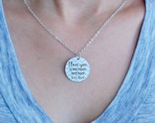 I love you to the moon and back personalized charm necklace