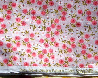 Riley Blake SongBird fabric Carina Gardner pink floral FQ or more