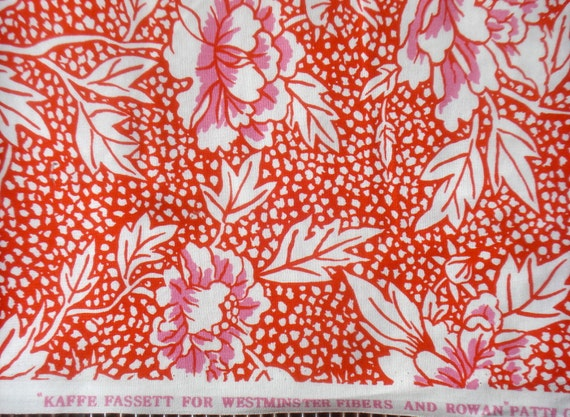 SALE : Kaffe Fassett Peony red white GP 17 Westminster Rowan Fabrics FQ or more