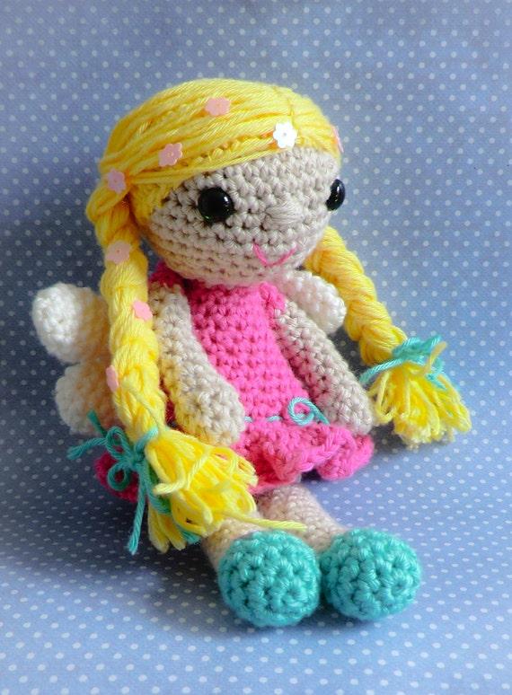Blossom the spring fairy amigurumi PDF crochet pattern