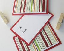 Christmas Clothespin Gift Tags: Handmade 3 Pack Mini Set - Candy Canes