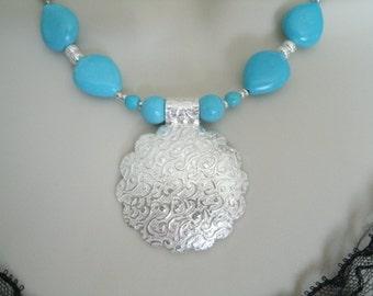 Turquoise Necklace, southwestern jewelry southwest jewelry turquoise jewelry native american style jewelry western jewelry country cowgirl