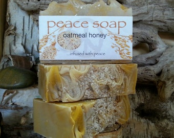 oatmeal and honey peace soap