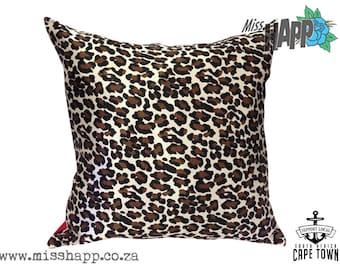 Rockabilly leopard animal print cushion cover 45x45cm