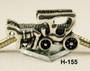 Horse and Buggy - European Big Hole Charm