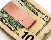Personalized money clip, Zodiac money clip, constellation money clip