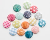 Buttons - Bright Washi tape (set of 16)