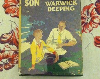 Sorrell and Son Hardback book Warwick Deeping 1926 novel father son story book, adventure, Father Day Gift Idea Display book, hardback book