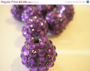 CLEARANCE SALE 10 Rhinestone Resin Balls - PURPLE (16 mm) - Basketball Wives Inspired