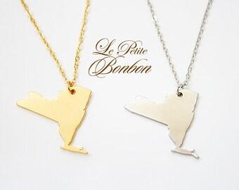 New York State America USA necklace