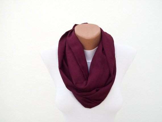 SALE %20 - Was 14 Now 11,2-infinity scarf Loop scarf Neckwarmer Necklace scarf Fabric scarf  Burgundy  Holiday Accessories