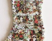 Kitty Cat Christmas Stocking Rag Quilt Style