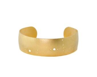 Scorpio Gold Flash Constellation Cuff Bracelet