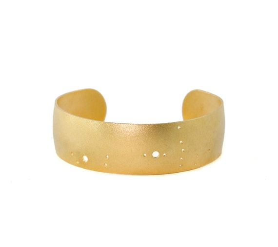 Scorpio Gold Flash Constellation Cuff Bracelet
