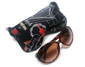 Eyeglass Case, Sun glass Case, Sunglass Case, Zippered Eye Case - All That Jazz