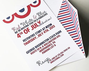 July 4th Invites