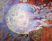 """Encaustic Painting: """"Bye bye old thoughts, hello next life, 2014"""" 36""""x18"""" Danielle Lange"""