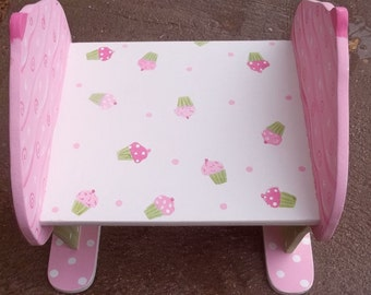 Kids Step Stool Pink Cupcakes Childs Step Stool Bench Kids