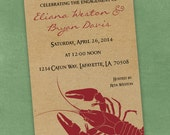 Printable Digital File - Crawfish Boil Invitation - Customizable - Kraft Paper, Seafood, Crayfish, Cajun, Birthday, Shower, Engagement Party