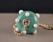 Silver lined hollow Lampwork Glass Bead for European Charm Bracelet or necklace-BHB-OOAK-Handmade-SRA