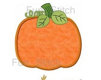 Pumpkin applique machine embroidery design