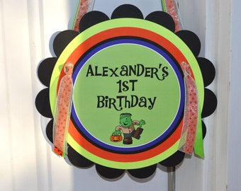 Halloween Birthday Door Sign - Halloween Birthday Decorations - Halloween Party Decorations