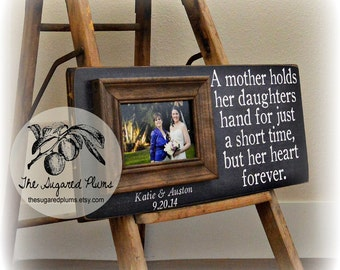 Mother of the Bride Gift, Wedding Gift For Mom, Personalized Picture Frame, 8x20 The Sugared Plums Frames