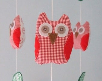 Woodland Love Owl Mushroom Heart Forest Leaves Garland Children Nursery Decor