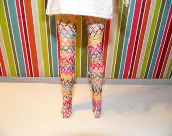 Multi colored fishnet tights stockings for pullip